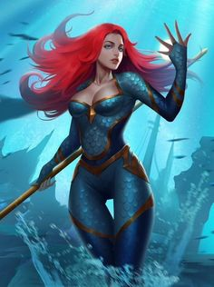 Mera Aquaman Wine red lace front wigs for women, mermaid cos.-Mera Aquaman Wine red lace front wigs for women, mermaid cosplay wigs, pastel full lace wigs for black women 24 in cm) long - Mera Dc Comics, Dc Comics Girls, Dc Comics Art, Marvel Girls, Marvel Art, Marvel Dc Comics, Dc Comics Women, Comic Books Art, Comic Art
