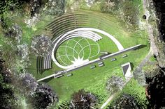 An open-air theatre could be created on the 'bomb crater' site at the Canter. - An open-air theatre could be created on the 'bomb crater' site at the Canterbury campus – tha - Amphitheater Architecture, Theatre Architecture, Landscape Architecture Drawing, Outdoor Stage, Outdoor Theater, Urban Landscape, Landscape Design, Arches Park, Open Air Theater