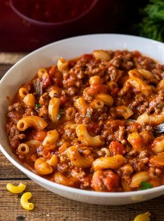 This Ground Beef Goulash Recipe is a quick and easy one pan dinner that's pure comfort food. Easy Goulash Recipes, Meat Recipes, Cooking Recipes, Casserole Recipes, Crockpot Recipes, Dinner Recipes, Stove Top Recipes, Beef Casserole, Oven Recipes