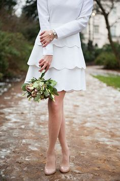 Classic & timeless - An Intimate London Elopement for a Valentino Bride - Photography by Dominique Bader...