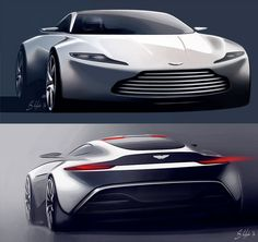 Daily Sketch: DB10 Design Sketch Render by Aston Martin designer Sam Holgate  gallery: