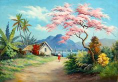 Landscape Paintings Acrylic On Canvas 53 New Ideas Watercolor Landscape, Landscape Art, Landscape Paintings, Watercolor Art, Landscape Photography, Acrylic Painting Canvas, Canvas Art, Scenery Paintings, Art Asiatique