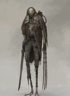 ArtStation - xiaodi jin Strange, but has some steampunk vibe. Character Concept, Character Art, Concept Art, Monster Design, Monster Art, Arte Ninja, Arte Cyberpunk, Post Apocalypse, Foto Art