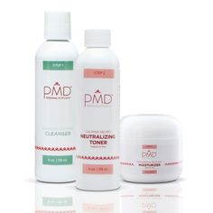 PMD Daily Cell Regeneration System is a complete skin care regimen designed to enhance the effects of the PMD Personal Microderm Device. It includes full sizes of the following products:  The PMD Advanced Soothing Cleanser  The PMD Calming Neuro Neutralizing Toner  The PMD Professional Recover Moisturizer