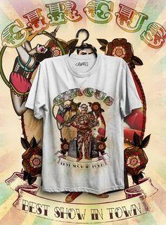 T-SHIRT MAGLIETTA CIRCUS HIPSTER OLD SCHOOL TATTOO ART in Abbigliamento e accessori, Uomo: abbigliamento, T-shirt   eBay