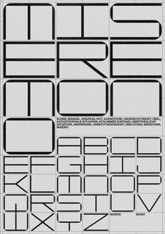 sginspirationarchive: Just Pinned to Grafik: Misere Mono —. Typeface Font, Typography Fonts, Graphic Design Typography, Lettering Design, Graphic Posters, Design Poster, Book Design, Layout Design, Print Design