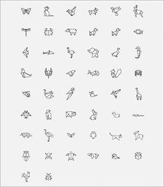 Cute Tiny Tattoos, Little Tattoos, Mini Tattoos, Small Tattoos, Origami Tattoo, Origami Logo, Kritzelei Tattoo, Doodle Tattoo, Mini Drawings
