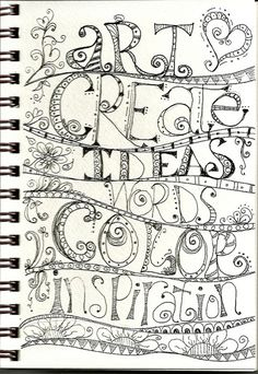 Whimsy Grids lesson 5 by SharonAnn. Doodle Lettering, Creative Lettering, Doodle Art Journals, Art Journal Pages, Journal Quotes, Art Journaling, Doodle Inspiration, Art Journal Inspiration, Journal Ideas