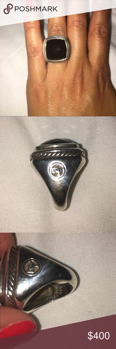 David Yurman Women's Albion Ring with Black Onyx David Yurman Women's Albion Ring with Black Onyx . Used in great condition no box . 925 sliver and black onyx stone David Yurman Jewelry Rings