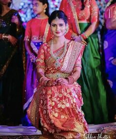 Cutest telugu brides ever of at wedding ceremonies 😍👰💐👀 🌹🎊❤️🎉😘👫👭 South Indian Weddings, South Indian Bride, Kerala Bride, Telugu Brides, Hindu Bride, Indian Bridal Wear, Indian Wear, Elegant Saree, Before Us