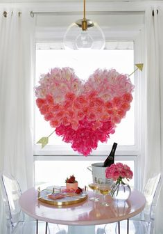 We usually have artificial flowers fallen off from our artificial flower arrangements or artificial flower hangings, whenever you deep clean your house you will get plenty of them gathered from different nooks and corners. Don't throw them, gather all of them and create this beautiful heart shaped hanging for your breakfast table. Especially when Valentine's Day is approaching.