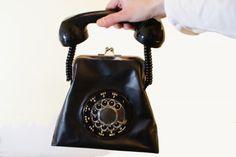 Retro rotary phone purse