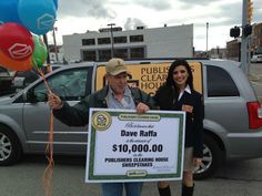 Today was a great day and an even better day for one PCH Fan ! Dave is one happy man and an even happier one when he met a PCH Prize Patrol Senior Member (Smiles) Congratulations ! January 2014