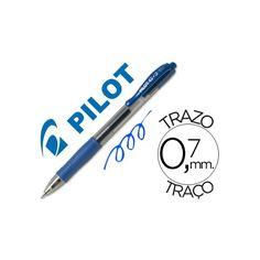 Color: Azul  Bolígrafo retráctil con tinta gel  Con sujeción de caucho y clip del color de la tinta  Grip de caucho en la parte inferior  Diámetro de bola: 0,7 mm  Trazo de 0,7 mm