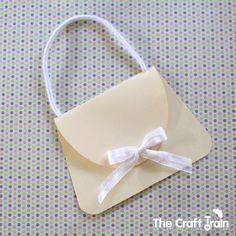 Free printable handbag card template