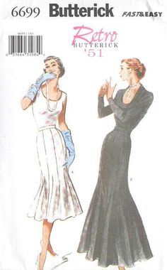 1950s Inspired Misses Trumpet Mermaid Flared by MissBettysAttic, $15.00