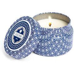Capri Blue Volcano No 6 Candle Tin (200 ZAR) ❤ liked on Polyvore featuring home, home decor and capri blue