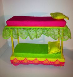 Doll furniture bunk beds for Monster High Barbie by LilliansLMB, $19.95