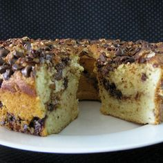 Chocolate Chip Sour Cream Coffee Cake Recipe   MyRecipes.com Mobile