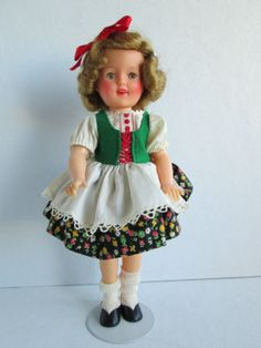 "Vintage Shirley Temple 12"" Vinyl Doll Wearing Movie Classics Heidi Outfit 