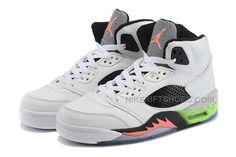 "best authentic d6b48 45467 2015 Air Jordan 5 Retro ""Space Jam"" White Black-Poison Green For Sale,  Price   89.00 - Nike Rift Shoes"