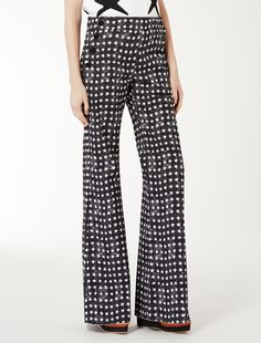 Max Mara ZIRLO white: Cotton drill trousers.