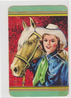1 SINGLE COLES SWAP CARD - COWGIRL AND HORSE sold $3.25  (2016)