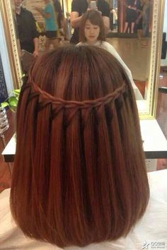 A perfect Waterfall braid