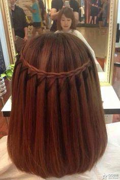 A perfect Waterfall braid