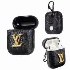 LV Airpods 1 & Airpod 2 Case Damier Graphite Skin Charging Cover - 1181 - Airpods - Defend both your Apple AirPods and the louis vuitton damier graphite charging case they come in from daily wear and tear, and look great doing it (wit Iphone 6, Coque Iphone, Iphone Cases, Fone Apple, Airpods Apple, Burberry, Black Louis Vuitton, Bluetooth, Earphone Case