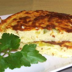Légèreté & Gourmandises: Tarte sans pate aux courgettes (2 PP)