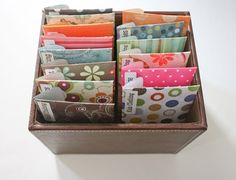money envelopes - diy with scrapbook paper and contact paper