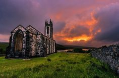 """Dunlewey's Fire"", Old Church Dunlewey, Poisoned Glen, County Donegal, Ireland"