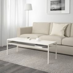NYBODA Coffee table w reversible table top - white/gray - IKEA Living Room Ideas 2020, Small Living Rooms, Living Room Modern, Living Room Designs, Ikea Living Room Furniture, Living Room Sofa, Ikea Home Tour, Cheap Home Decor Stores, Natural Home Decor