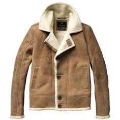 Suede lammy coat