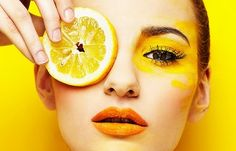 Beauty photography by Lucas Tomaszewski I think this is my favourite beaut image by Lucas Tomaszewski. i really like the way he's used yellow fruit, yellow make up and a yellow back drop, it makes the photo look really effective and stand out.