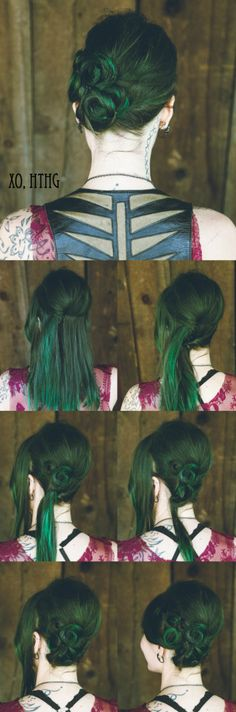 DIY Twisted Hairstyle, Rock n Roll Flapper! #hthg