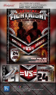 Beast Match Flyer Template By Prassetyo  Curro