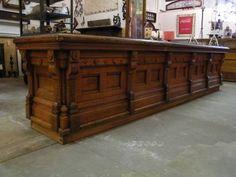 Columbus Architechural Salvage - Victorian Oak Store Counter