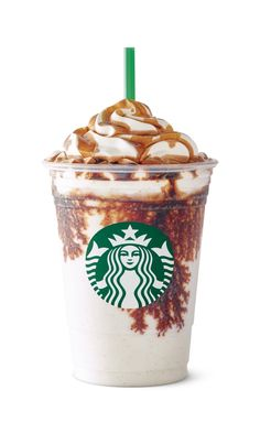 For this beverage, a barista pours a shot of espresso over a finished Starbucks Frappuccino blended beverage; the hot espresso mingles with the icy Frappuccino to create creamy pockets of coffee. Copo Starbucks, Bebidas Do Starbucks, Starbucks Vanilla, Healthy Starbucks, Starbucks Frappuccino, Starbucks Coffee, Starbucks Refreshers, Coffee Cafe, Coffee Drinks