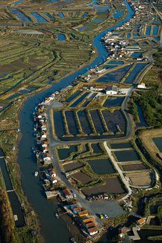 Cabanes et port ostréicoles - Ors 17480 - Ile d'Oléron - Charente Maritime (17) - Poitou Charente