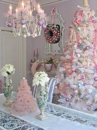 Lovely shabby chic Christmas room