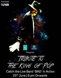 Tribute To The King Of Pop. #Mj #liveband #Music #Fun #Party #NightLife #TurquoiseCottage #Saket