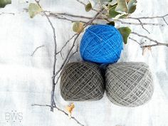 DARK CLOUDS Set of natural plant dyed / hand dyed wool yarn, eco friendly yarn…