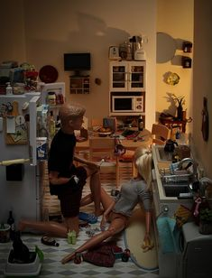 sexy scene in the kitchen