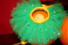 Robin themed halloween tutu costume with coordinating satin flower!  SO ADORABLE!!!