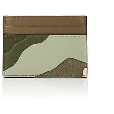 Valentino Men's Card Case (3.249.925 IDR) ❤ liked on Polyvore featuring men's fashion, men's bags, men's wallets, green, mens leather credit card holder wallet, mens camo wallet, mens card case wallet, mens wallets and mens card holder wallet