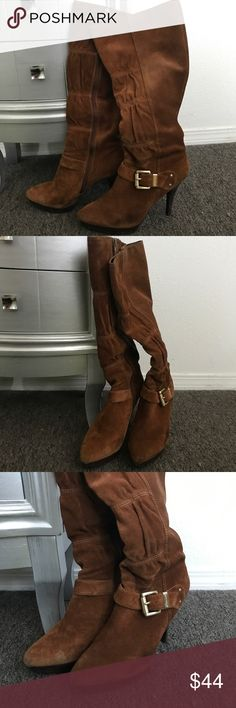 Michael Kors Boots Brown boots. Lattington style. Still have some life left. Michael Kors Shoes Heeled Boots