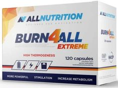 Burn4ALL Extreme ALLNUTRITION x 120 capsules Tamarind Fruit, L Tyrosine, Coffea Arabica, Pregnant And Breastfeeding, Reduce Appetite, Lower Blood Pressure, Fat Burner, Weight Loss Supplements, Fat Burning