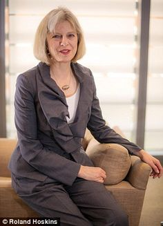 Prominent: State-educated Mrs May cuts a different figure to many of her Cabinet colleagues Female World Leaders, Teresa May, Mrs May, Fancy Shoes, Inspired Homes, Role Models, Work Wear, Mary Washington
